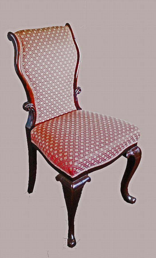 Antique Pair of 19th Century Rosewood Salon or Bedroom Chairs
