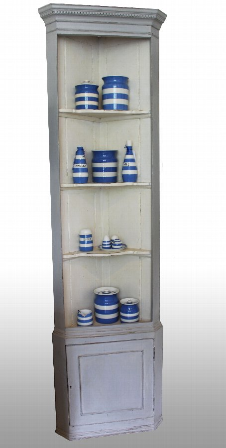 Antique painted Standing Corner cupboard.