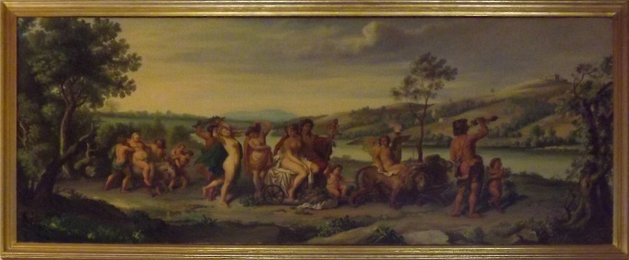 Oil painting on canvas - mythological - Triumph of Bacchus and Ariadne