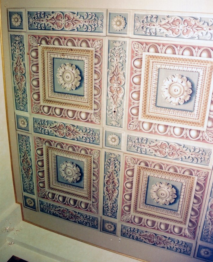 wooden ceiling decorated with tempera