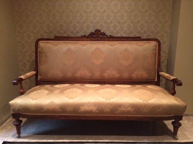 Refurbished Victorian Sofa late 19TH