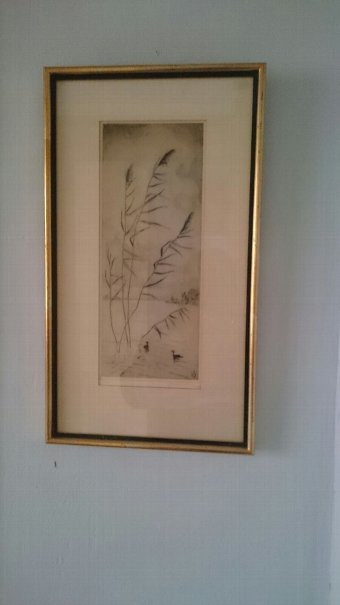 Antique Swedish drawing 1920