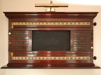 Antique Snooker Combination Life Pool Marking Scoreboard
