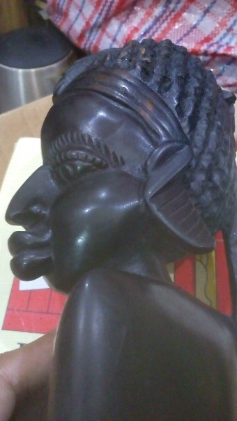 Antique Hand carved ebony African tribal folk art