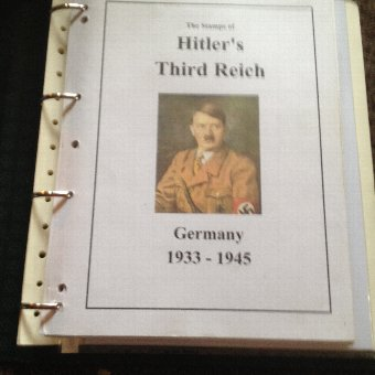 large stamp collection on topic of third reich and nazi germany