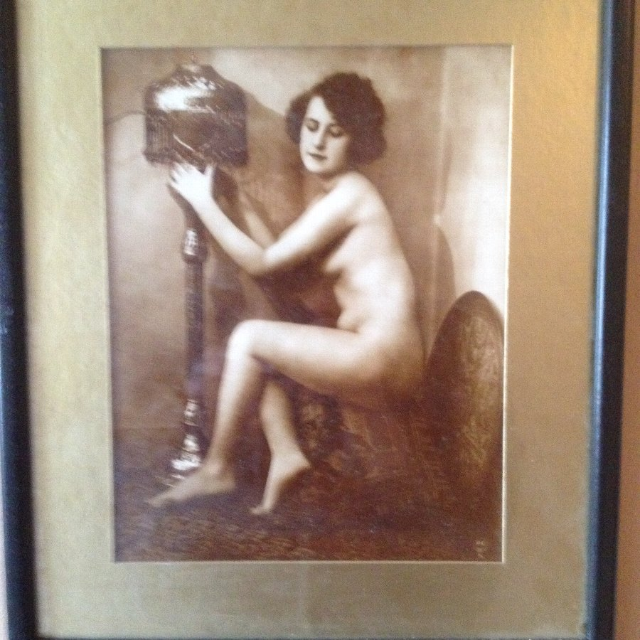 Antique 1920s nude woman photos