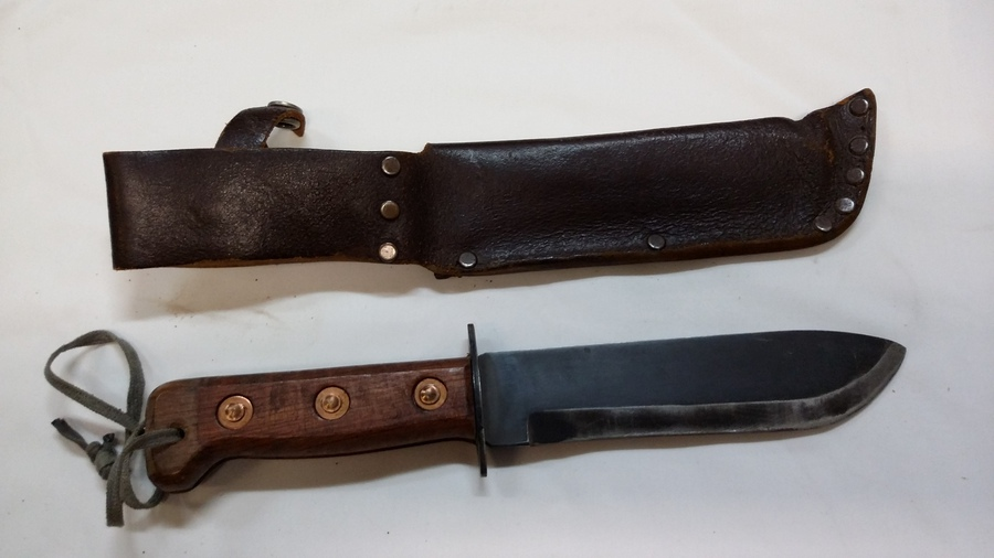 Antique British Post-War MOD Type D Survival Knife Dated 1988.
