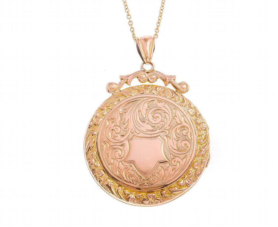 Antique Victorian Round Golden Locket