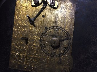 Antique Antique fusee wall clock works only maker James Ritchie and Sons Edinburgh 1882