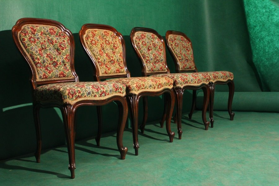 Antique Antique set of 4 victorian chairs
