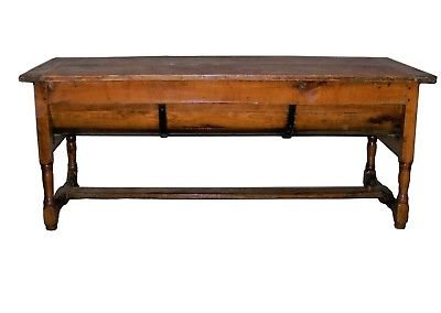 Antique 19th century antique pine wood rustic farm house table / used for bread making