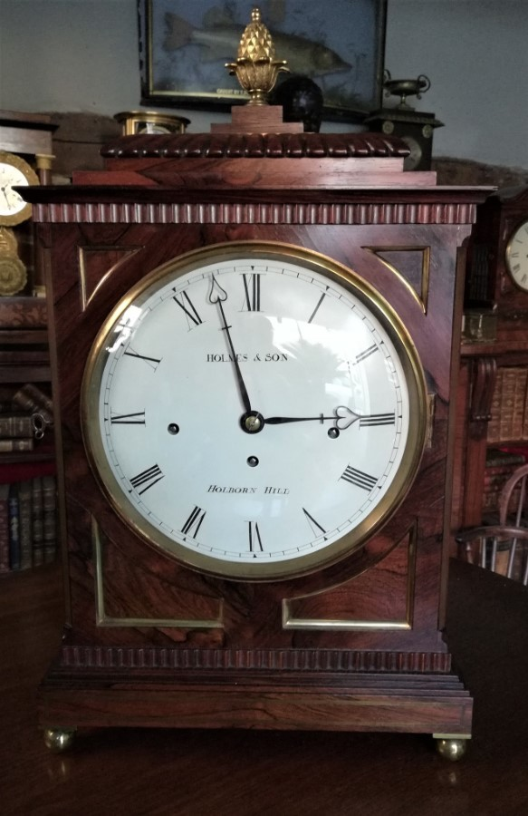 19th Cent 3 Train Musical Bracket Clock