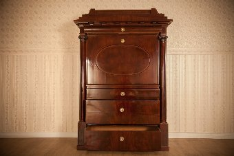 Antique Biedermeier Secretary Desk, Circa 1840