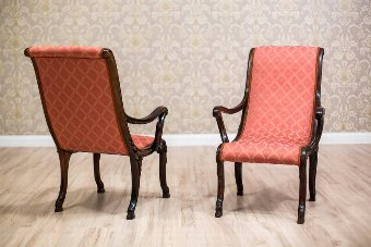 Antique Two Uncommon Swan Armchairs from the Late 19th century (Circa 1900)