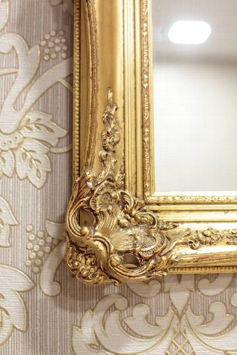 Antique Mirror in a Gilded Frame, Circa 1900