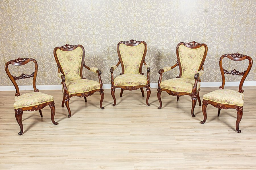 Neo-Rococo Suite of Armchairs and Chairs