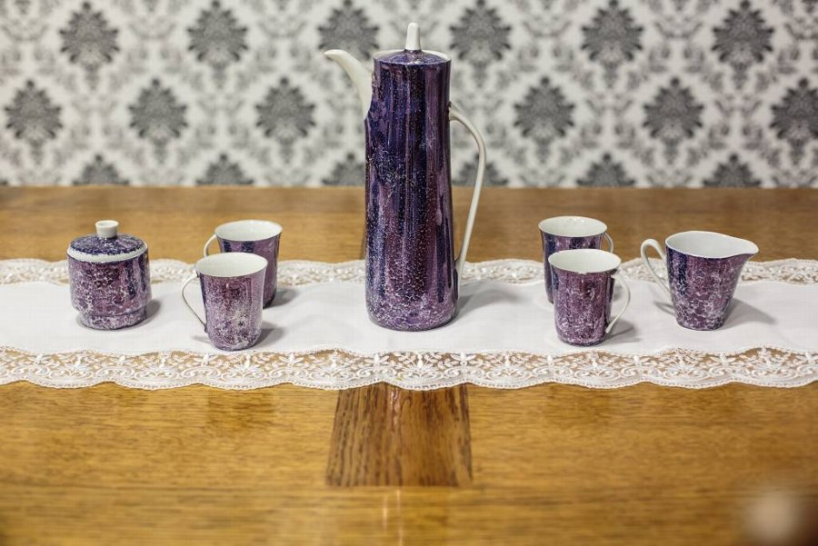 Cmielów -- Fashionable Coffee Set from the Period of the Polish People's Republic