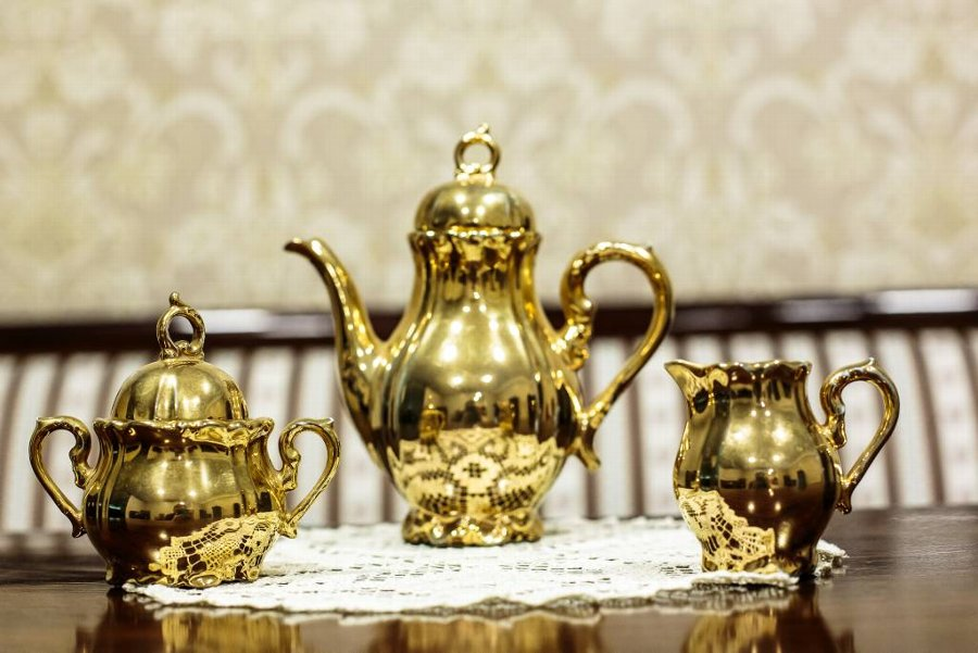 Golden Coffee Set