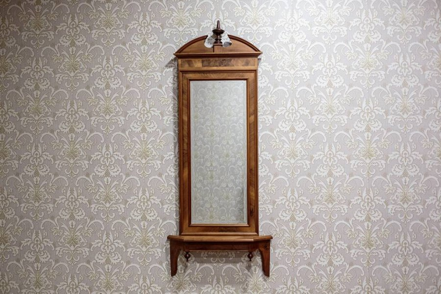 Antique Biedermeier Console Mirror, Circa 1880