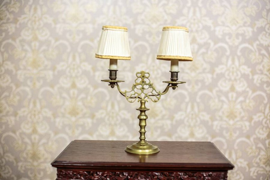 Antique Two-Armed Table Lamp, Circa 1930