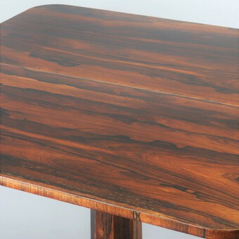 Antique William IV Rosewood Fold-Over Pedestal Tea Table by J Kendell & Co