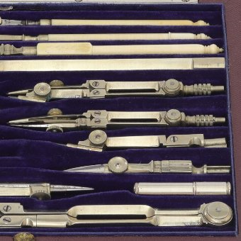 Antique Cased 'Full Set' of Technical Drawing Instruments c1925