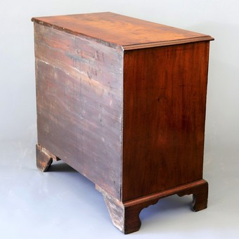 Antique George II Curl Mahogany Small Chest of Drawers c1740