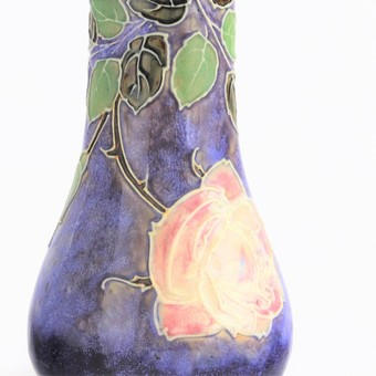 Antique Royal Doulton Stoneware Vase by Bessie Newbery c.1910
