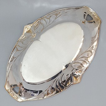 Antique WMF Silver Plated Jugendstil Dish c1890