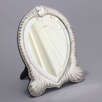Antique Fine Antique Silver Dressing Table Mirror by William Comyns London 1893