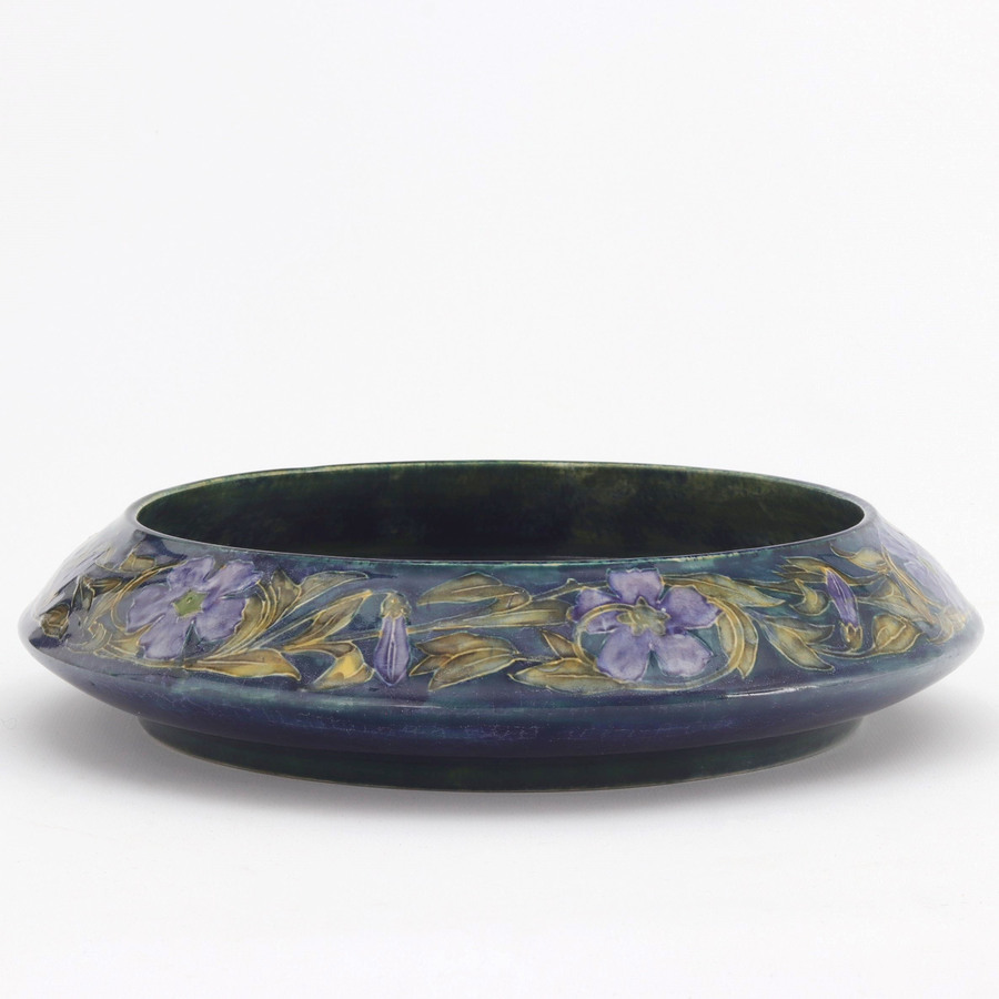 Antique Arts & Crafts Morris Ware Bowl by George Cartlidge for Hancock & Sons c1920
