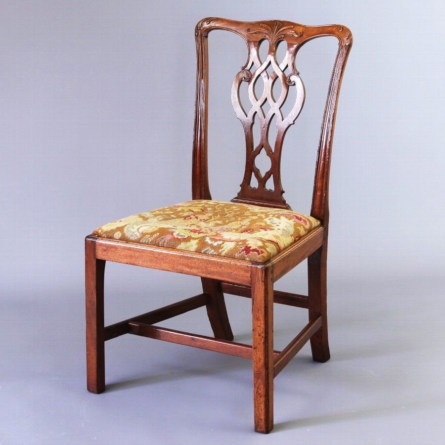 Early George III Mahogany Chair in The Chippendale Style c1760