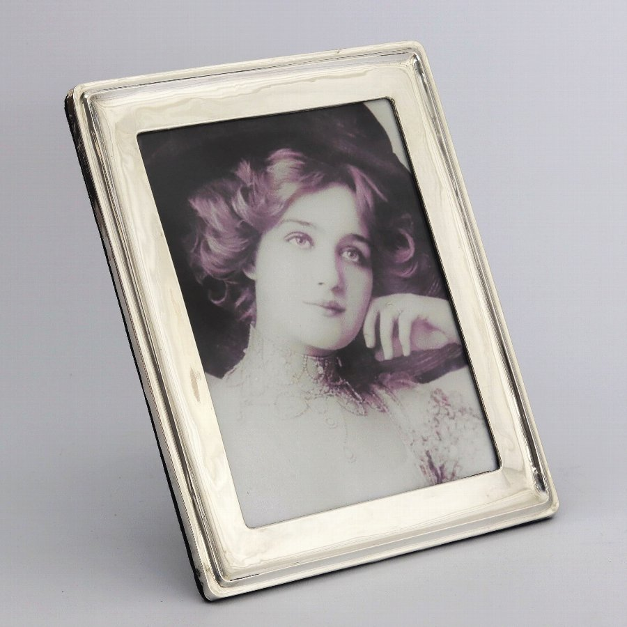 Large Rectangular Silver Photograph Frame by A&J Zimmerman 1919