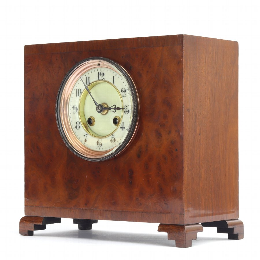 Walnut Cased Striking Mantle Clock by S Marti c.1875