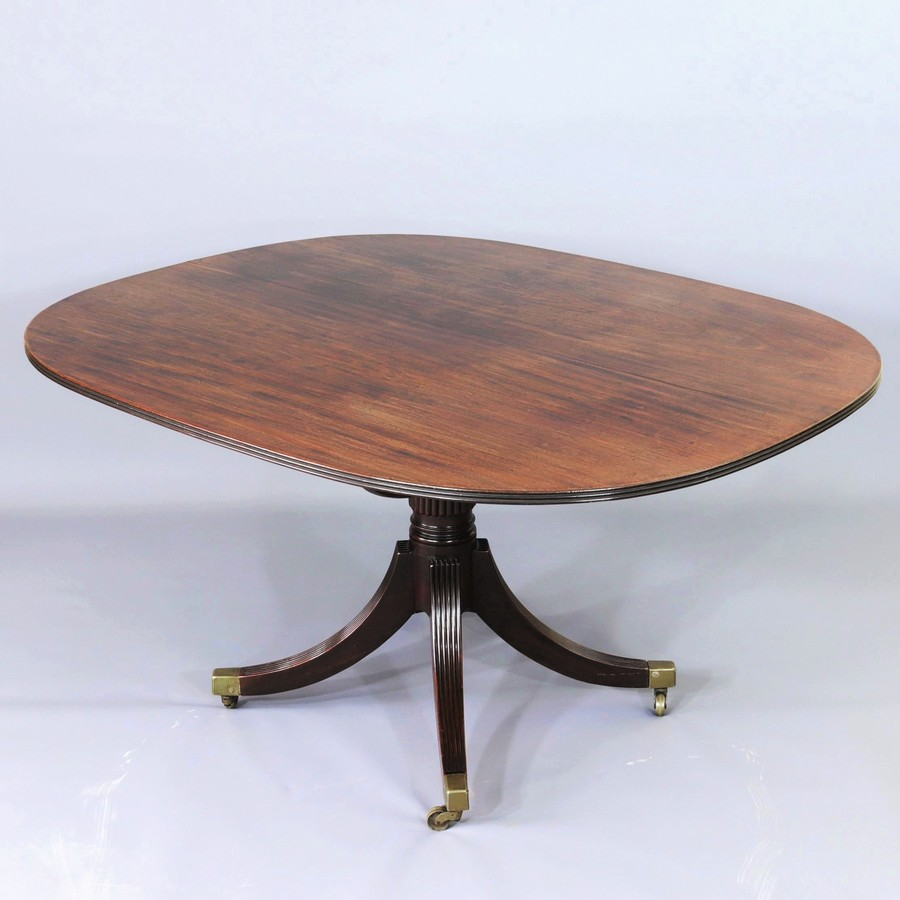 Regency Solid Figured Mahogany Tilt-Top Breakfast Table c1815