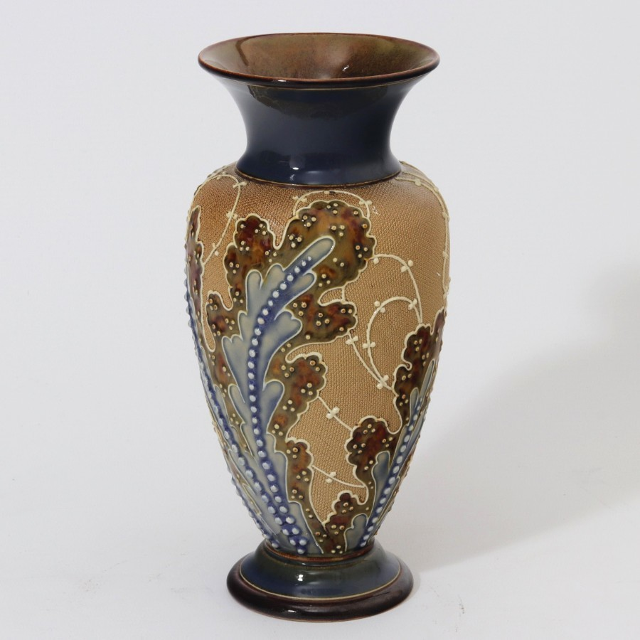 Antique Doulton Lambeth Baluster Vase by Florence Roberts & Rosina Brown c1890