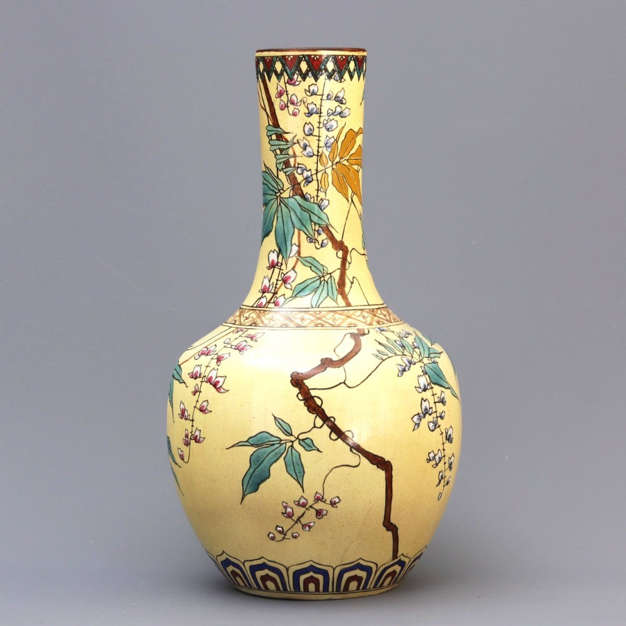 Minton Pottery Aesthetic Movement Bottle Vase 1872