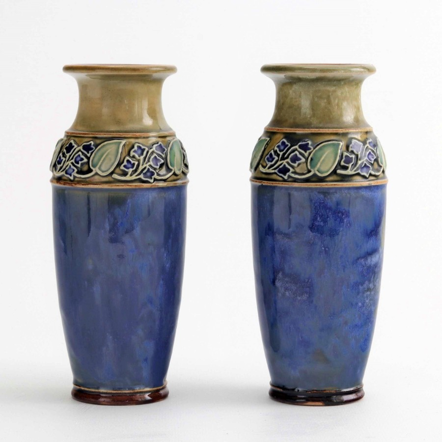 Pair of Royal Doulton Art Nouveau Stoneware Vases c1925