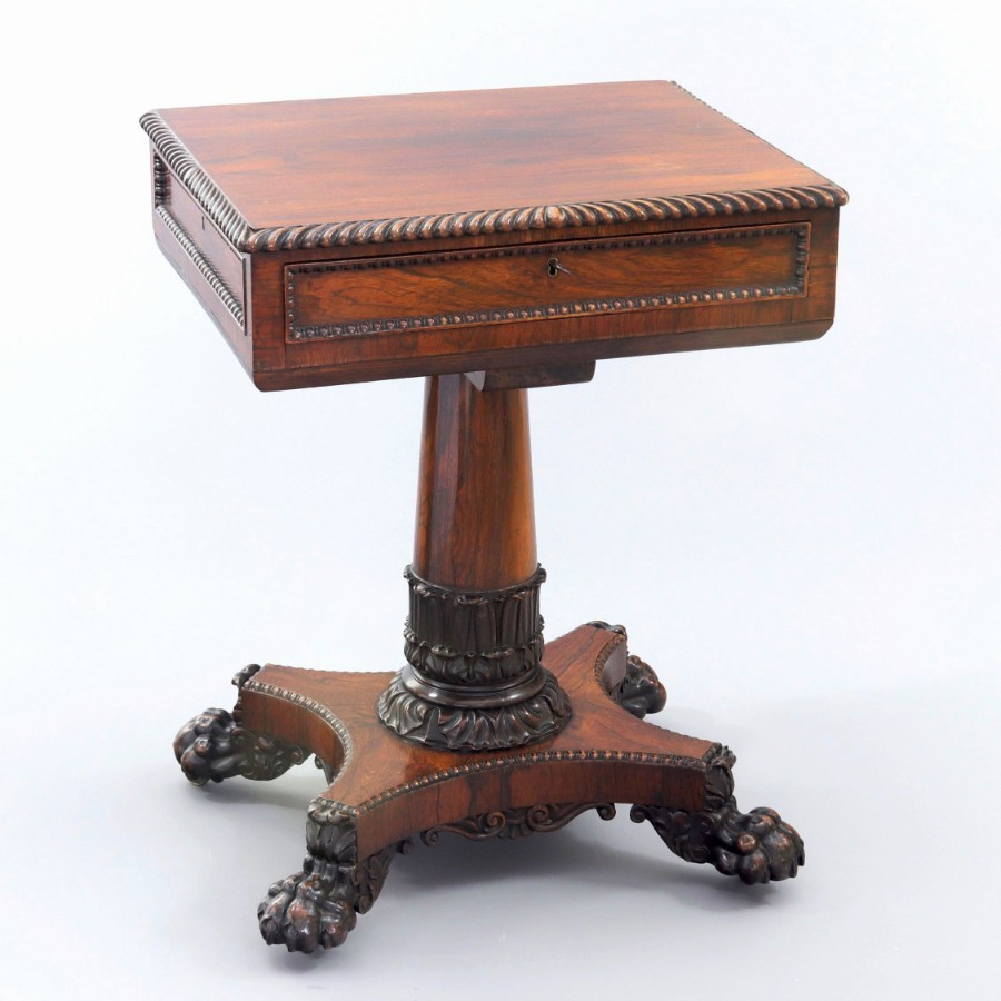 Quality William IV Rosewood Worktable in the Gillows Manner c1830