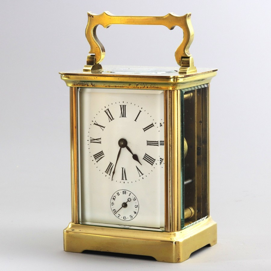 Richard & Co Brass Timepiece Carriage Clock With Alarm c1880