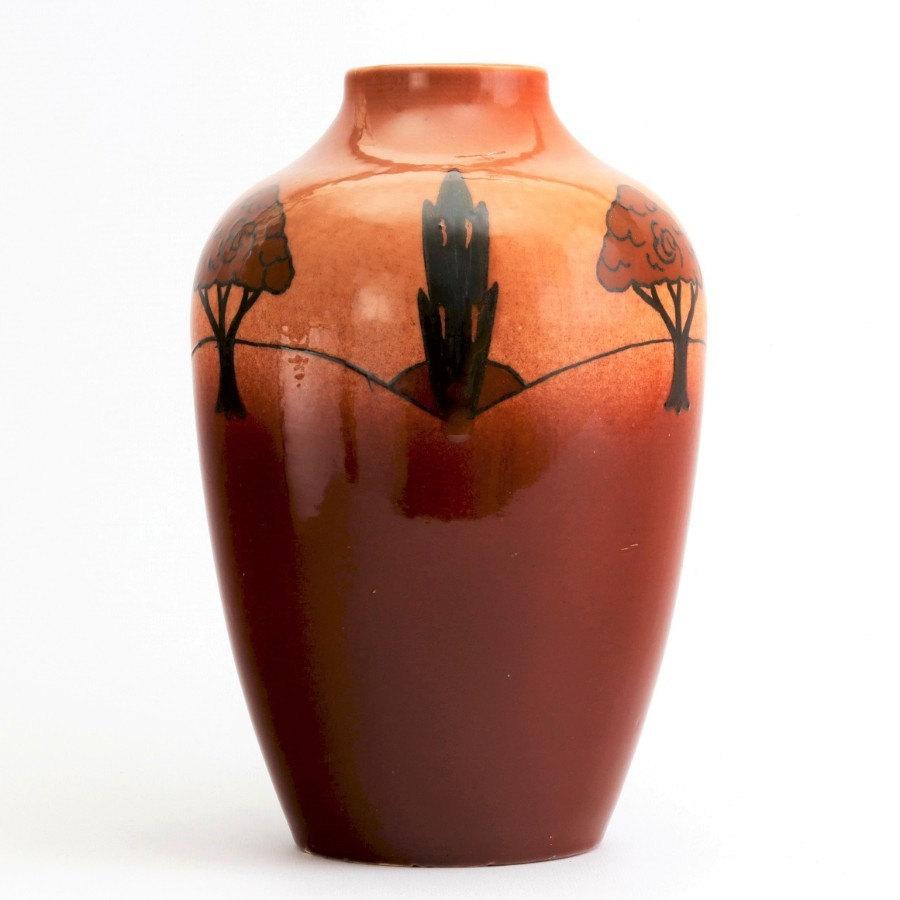 Early 20th Century Ault Pottery Shouldered Vase c1920