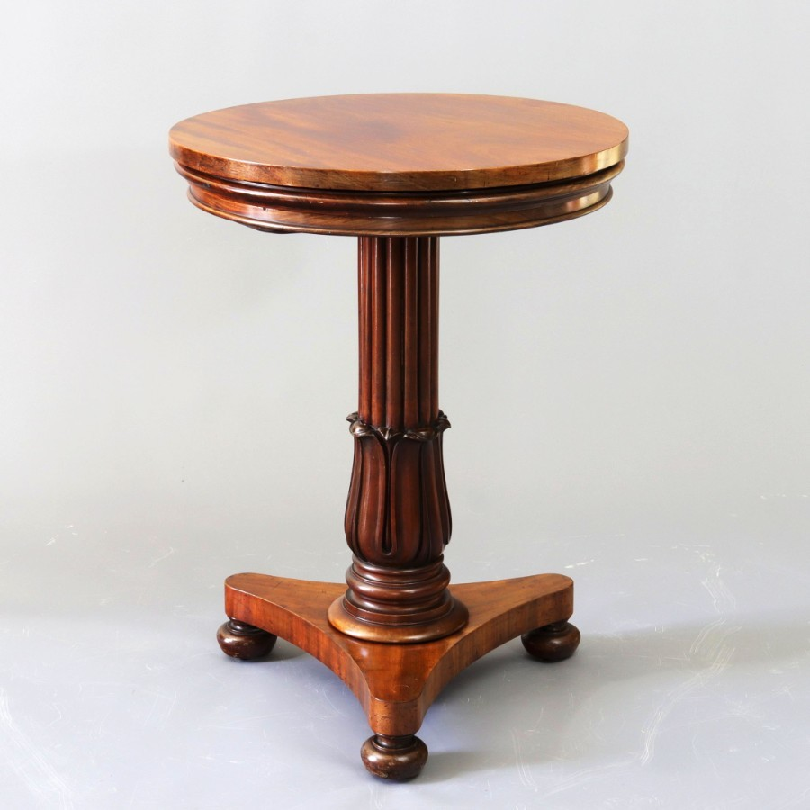 William IV Mahogany Metamorphic Side Table/Three Tier Dumbwaiter c1835
