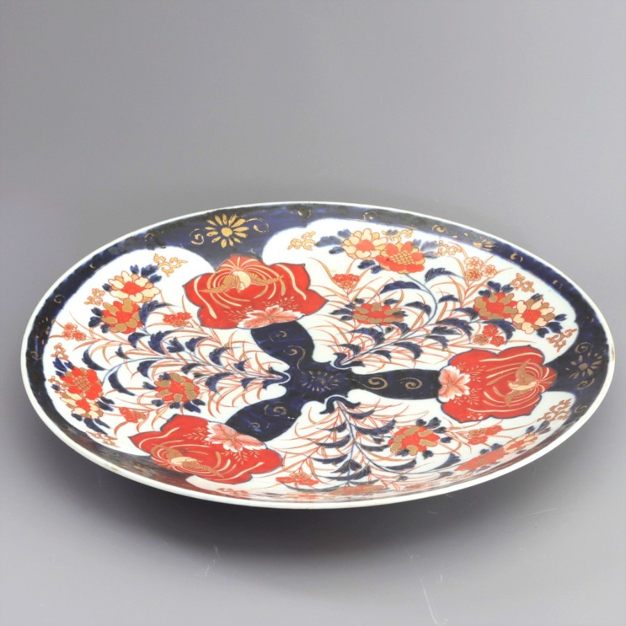 Antique Large Japanese Meiji Period Imari / Arita Charger c1880