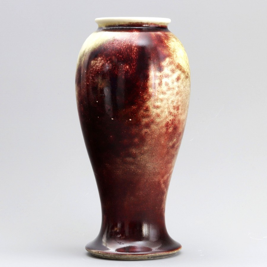 Ruskin Pottery High Fired Sang-de-Boeuf Flambe Vase 1920