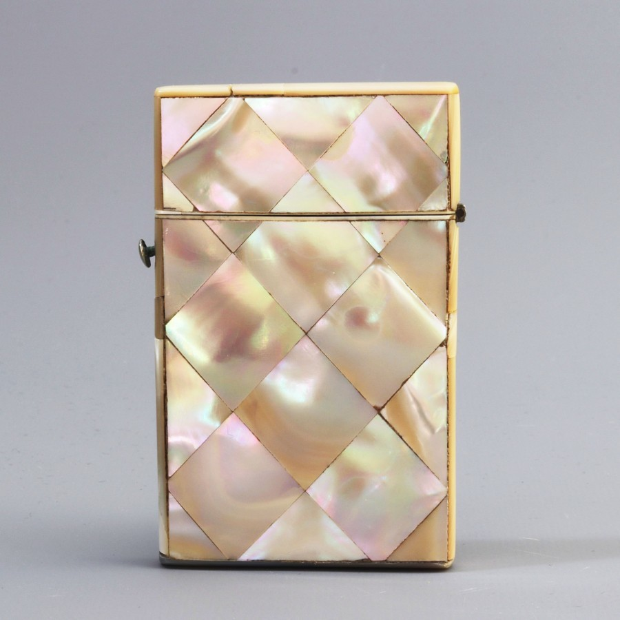 Victorian Mother-of-Pearl Calling Card Case