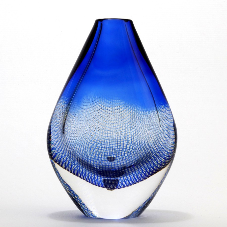 Kraka Teardrop Glass Vase by Sven Palmqvist for Orrefors c1950