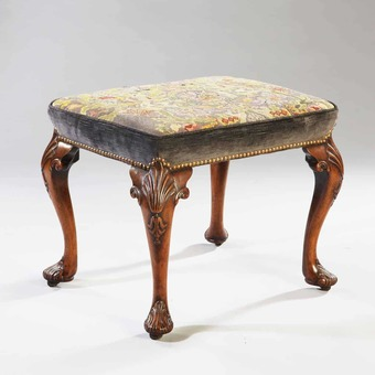 Antique Early 18th Century George II Walnut Stool