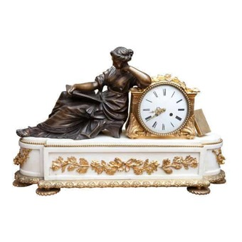 Antique A Fine French Neo Classical Mantel Clock