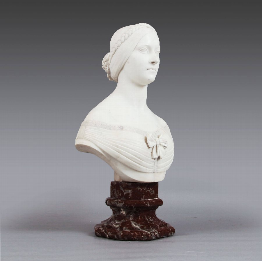 Female Bust In The Manner Of Sir Joseph Edgar Boehm