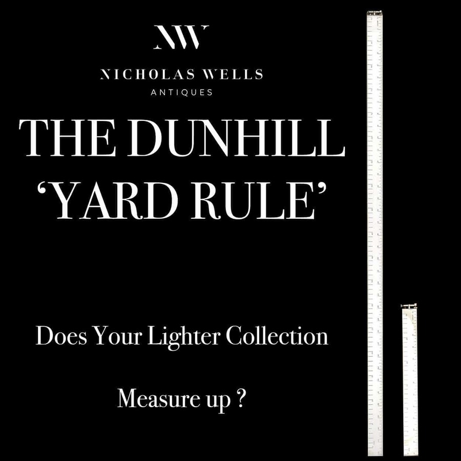 1 of only 20 Dunhill Yard Rule or Architect Lighters